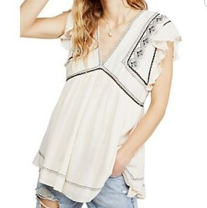 Free People falling water embroidered tunic